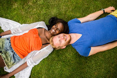 Multiracial couple in the park Stock Image