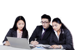 Multiracial entrepreneurs in a meeting Stock Photography