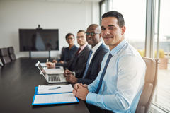 Multiracial executive business team in a meeting Stock Image