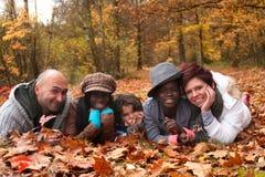 Multiracial familj royaltyfri foto