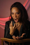 Multiracial Female Vampire (2). A lovely but scary young multiracial female vampire or monster Stock Images