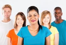 Multiracial folkgrupp royaltyfria bilder