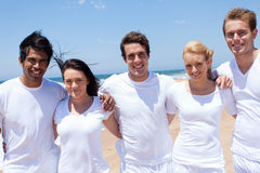 Multiracial friends beach Royalty Free Stock Image
