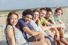 Multiracial Friends at Beach Royalty Free Stock Images