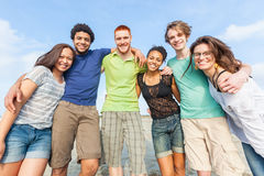 Multiracial Friends at Beach. Multiracial Group of Friends at Beach stock image