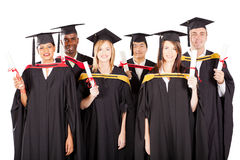 Multiracial graduates Stock Photography