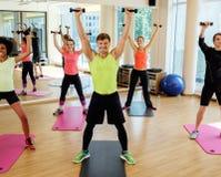 Multiracial group doing aerobics exercise Royalty Free Stock Photography