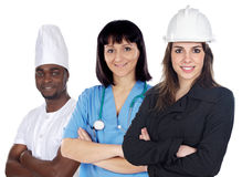 Multiracial group of workers Stock Photos