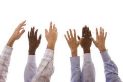 Multiracial hands Stock Photography