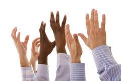 Multiracial hands Stock Photos