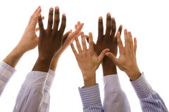 Multiracial hands Stock Photography