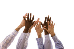 Multiracial hands Stock Image