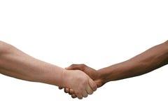 Multiracial Handshake Isolated on White Royalty Free Stock Photography