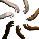 Multiracial human hands Stock Image
