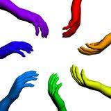 Multiracial human hands Royalty Free Stock Image