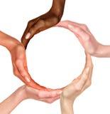 Multiracial human hands Stock Photo