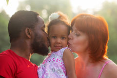 Multiracial mixed family concept. stock images