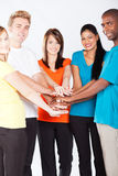 Multiracial people together Stock Photos