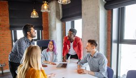 Multiracial People at Working Meeting Discussion Corporate Concept royalty free stock photo
