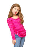Multiracial preteen poses cheerfully Royalty Free Stock Photo