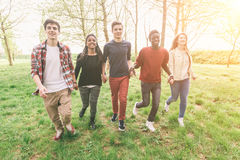 Multiracial Teenagers Stock Images