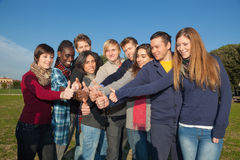 Multiracial Thumbs Up Stock Photography