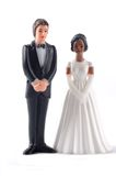 Multiracial wedding dolls Royalty Free Stock Photography