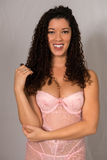 Multiracial woman in pink Royalty Free Stock Images