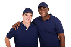 Multiracial workers Royalty Free Stock Photo