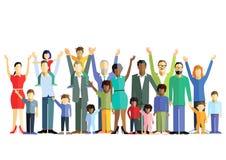 Multiraciale families vector illustratie