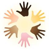 Multiraciale handen Royalty-vrije Stock Afbeeldingen