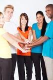 Multiraciale mensen samen Stock Foto's