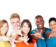 Multiraciale vrienden Royalty-vrije Stock Fotografie