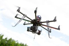 Multirotor fotografihelikopter Royaltyfria Bilder