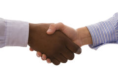 Multirracial handshake Stock Photos