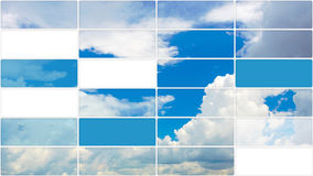 Multiscreen clouds in sky background Royalty Free Stock Images
