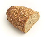 Multiseed bread. Isolated on the white background Stock Photo