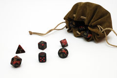 Multisided dice for gaming. Role playing game Stock Photography