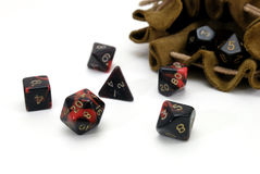 Multisided Würfel für Spiel Stockfoto