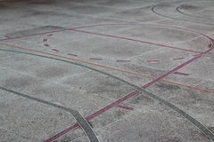 Multisport court  with poured  pavement Stock Images