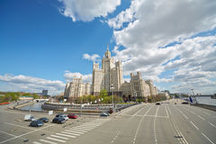 Multistoried house at Kotelnicheskaya Embankment Stock Photos