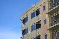 Multistoried modern living block of flats Royalty Free Stock Photo