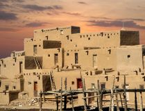 Multistoried taos pueblo Stock Image