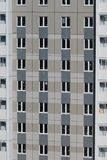 Multistory building with lot of windows. Russian construction. Closeup Royalty Free Stock Images