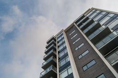 Multistory building. Low angle shot of a modern multistory building Royalty Free Stock Image