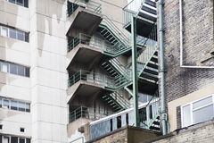 Multistory fire escape Royalty Free Stock Image