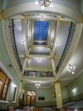 Multistory interior atrium in Metropol hotel in Moscow, Russia. MOSCOW, RUSSIA - APRIL 27, 2017: Multistory interior atrium in Metropol hotel in Moscow, Russia Stock Photos