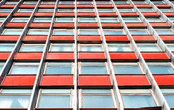Multistory office building with terracotta panels Stock Photography
