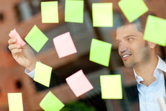 Multitask business man Stock Images
