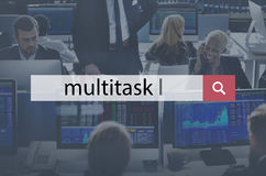 Multitask Management Corporate Business Concept stock image